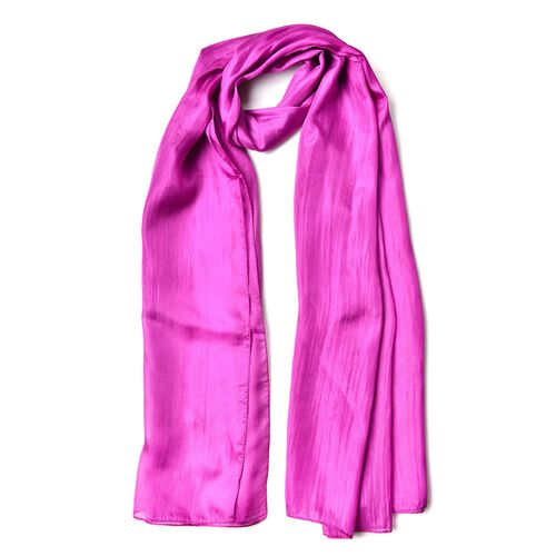 New Season - 100% Mulberry Silk Light Purple Colour Scarf (Size 180X100 Cm)