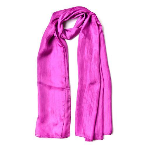 New Season - 100% Mulberry Silk Light Purple Colour Scarf (Size 180X100 Cm)