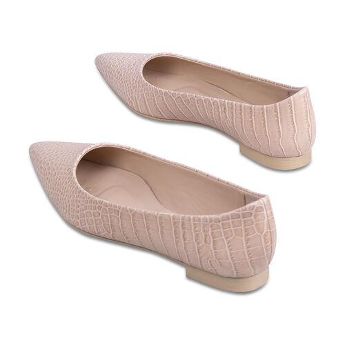 Inyati Violet Peach Croco Shoes (Size 4)