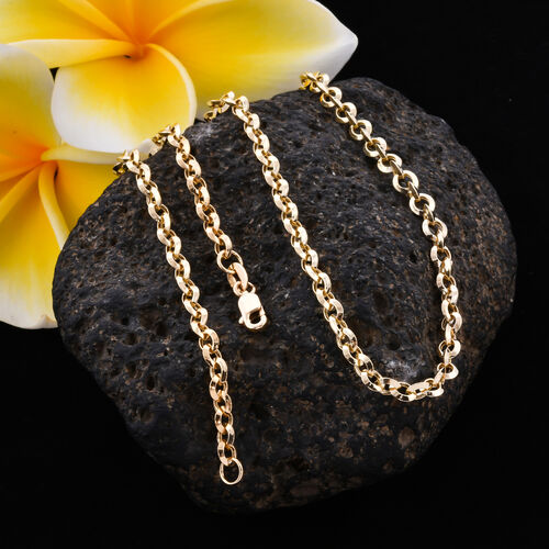 Royal Bali Collection - 9K Yellow Gold Belcher Necklace (Size 22) with Lobster Lock, Gold wt 7.00 Gms