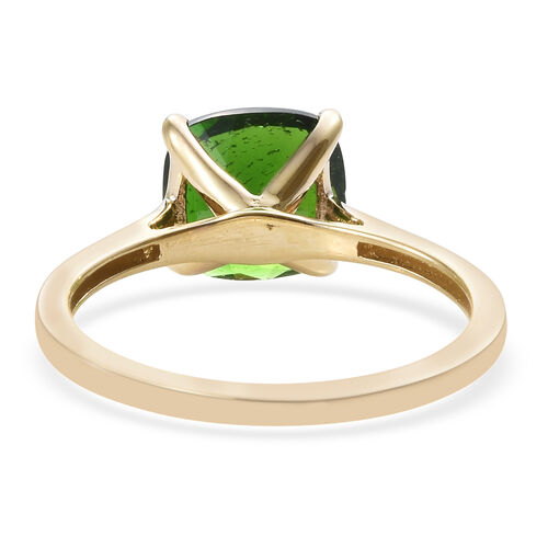 New York Close Out 14K Yellow Gold AAA Russian Diopside (Cus) Solitare Ring 2.000 Ct.