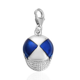 Charms De memoire - Platinum Overlay Sterling Silver Enamelled Charm