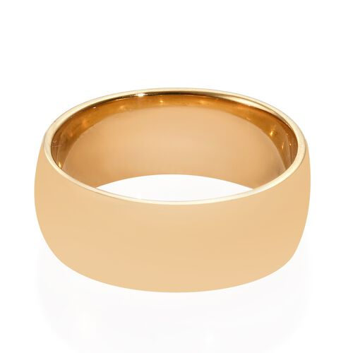 Close Out Deal 14K Gold Overlay Sterling Silver Band Ring Silver Wt. 5.00 Grams