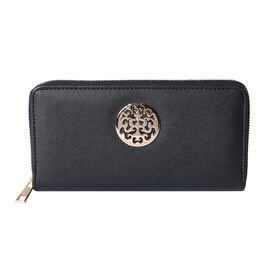 Classic Black RFID Long Clutch Wallet