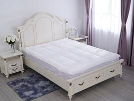 Serenity Night - 5 Zone 2 in 1 Hybrid Mattress Topper with Copper Infused Memory Foam & Down Alterna