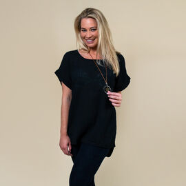 TAMSY Linen Mix top with Free Necklace