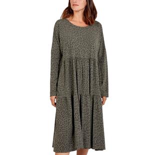 Nova of London Women Leopard Pattern Tiered Midi Dress (Size 8-18) - Grey
