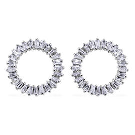 RHAPSODY 950 Platinum IGI Certified Diamond (VS/E-F) Earrings (with Screw Back) 0.50 Ct.