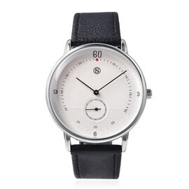 STRADA Water Resistance Watch with Black Colour Strap in Stainless Steel