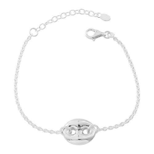 Vicenza Collection Sterling Silver Mariner Link Bracelet (Size 7 with 1.5 inch Extender), Silver wt. 5.37 Gms.