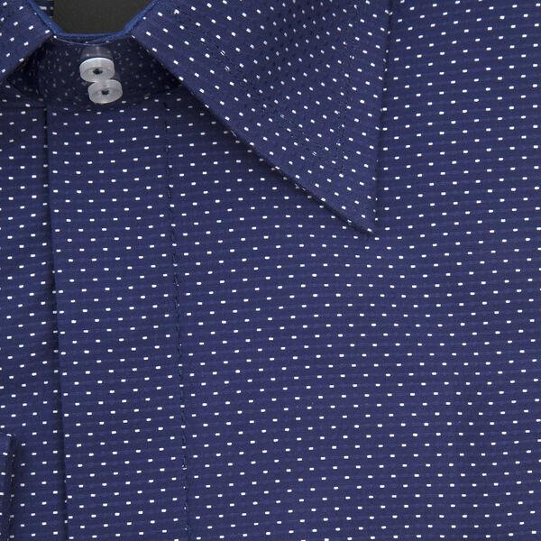 William Hunt Saville Row Forward Point Collar Dark Blue Shirt Size 16.5