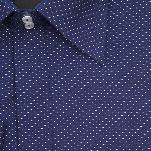 William Hunt Saville Row Forward Point Collar Dark Blue Shirt Size 15.5