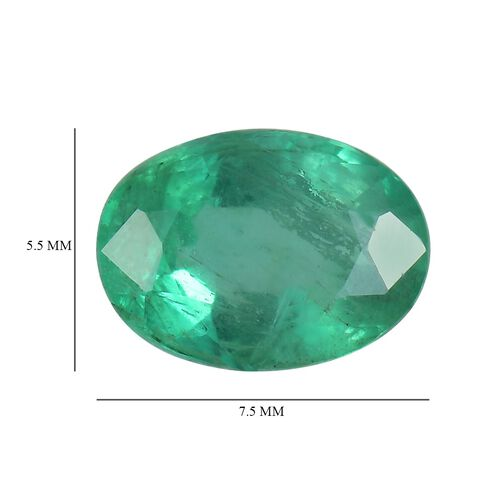 AA Emerald Oval 7.5x5.5 Faceted 0.79 Cts