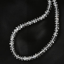 Sajen Silver GEM HEALING Collection - Crystal Beads Necklace (Size - 20 with Extender) in Rhodium Overlay Sterling Silver 60.00 Ct.