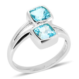 Sky Blue Topaz (2.25 Ct) Sterling Silver Ring  2.250  Ct.