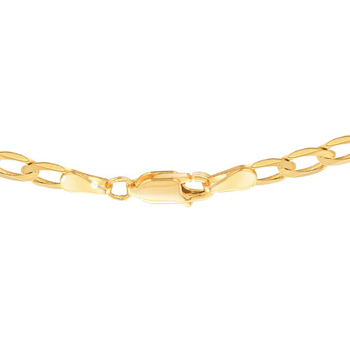 9K Yellow Gold Diamond Cut Curb Chain (Size 22), Gold wt 7.50 Gms.