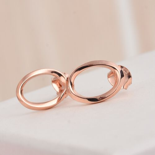 Rose Gold Overlay Sterling Silver Earrings (with Push Back)