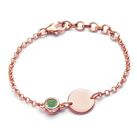 Kagem Zambian Emerald Bracelet (Size 6 with Extender) in Rose Gold Overlay Sterling Silver 0.43 Ct.