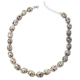 Extremely Rare One Time Deal-Dalmation Jasper Necklace (Size 18 with 2 Inch Extender) in Sterling Si