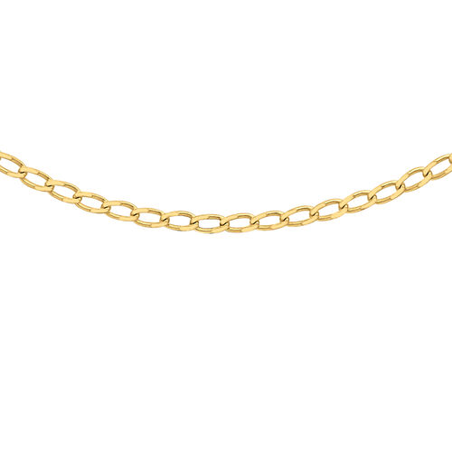 Open Curb Chain in 9K Yellow Gold 18 Inch