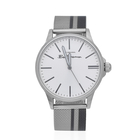 Ben Sherman Water Resistant Watch with White Dial and Mesh Strap