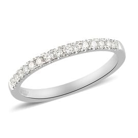 RHAPSODY 950 Platinum IGI Certified Diamond (VS/E-F) Half Eternity Ring 0.25 Ct.