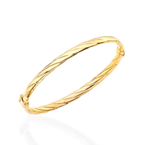 Now Limited Available- Italian Made 9K Yellow Gold Bangle (Size 7), Gold wt 4.20 Gms.