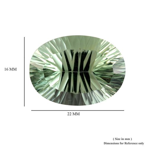 AAA Prasiolite Oval 22x16 Concave 20.25 Cts