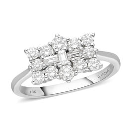 ILIANA 18K White Gold IGI Certified Diamond (SI/G-H) Ring 1.00 Ct.
