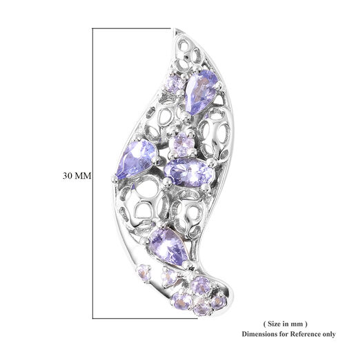 RACHEL GALLEY Misto Collection - Tanzanite Earrings (with Push Back) in Rhodium Overlay Sterling Silver 2.23 Ct.