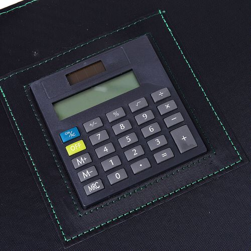 Green and Black Colour Diary (Size 32X25.5 Cm) with In-Built Calculator