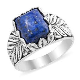 Afghan Lapis Lazuli (5.90 Ct) Sterling Silver Ring  5.900  Ct.