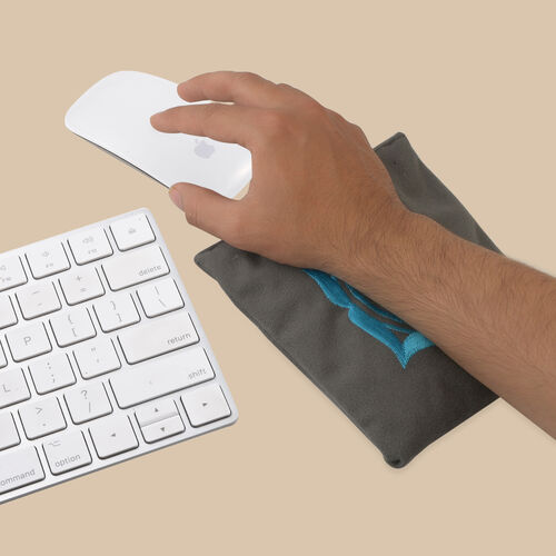 POLYESTER WRIST PAD WITH SHUNGITE GREY COLOR 14 x 14 cm