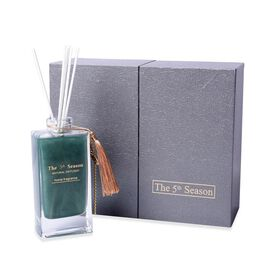 The 5th Season - 150ml Reed Diffuser Air Freshener in Gift Box with Artificial Flower - Teal Green (