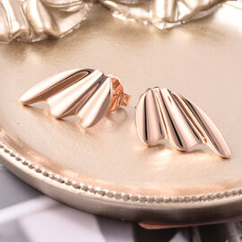 LucyQ Stud Earrings in Rose Gold Plated Sterling Silver