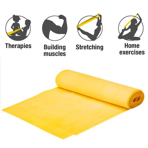 Thera-band Exercise Band in zipper Bag (2.5m) - Yellow