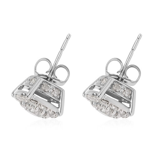 NY Closeout Deal- 14K White Gold Certified Diamond (I1-I2/G-H) Stud Earrings (with Push Back) 1.50 Ct.