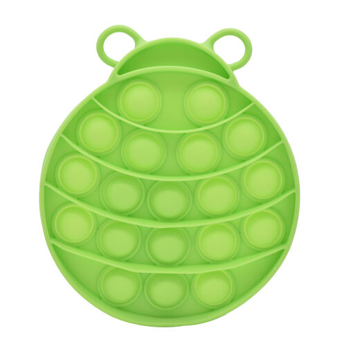 Push Bubble Stress Relieving Lady Bug Fidget for Adults/Children in Lime Green (12x11cm)