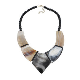 100% Genuine Buffalo Horn Adjustable Necklace 18 with 3 inch Extender