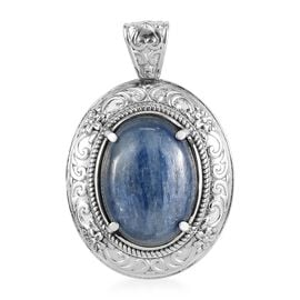 Moon Kyanite Pendant in Stainless Steel 16.00 Ct.