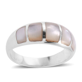 Royal Bali Collection - Mother of Pearl Ring in Sterling Silver