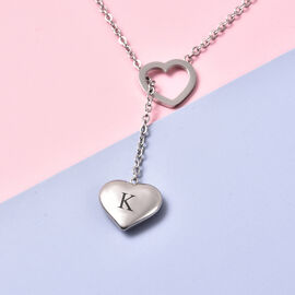 Personalise Engravable Stunning Heart Necklace, Size 17+2 Inch