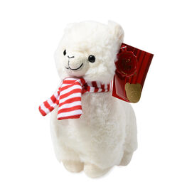 Keel Toys - Llama with Christmas Outfit (Size 20 Cm) - White