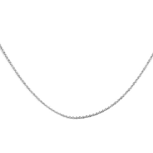 J Francis - Crystal from Swarovski Silver Shade Crystal (Rnd) Pendant with Chain (Size 30) in Platin