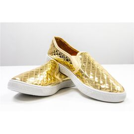 New for Season- Designer Inspired Gold Sneakers and Athletic Shoes