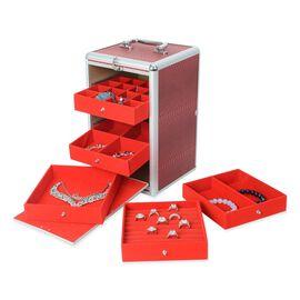 Super Auction- Super Organizer Croc Skin Pattern Anti-Tarnish Lining Five Tier Jewellery Box (Size 3