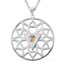 RACHEL GALLEY Chakra Collection - Yellow Sapphire Pendant with Adjustable Chain (Size 18-24-30) in R