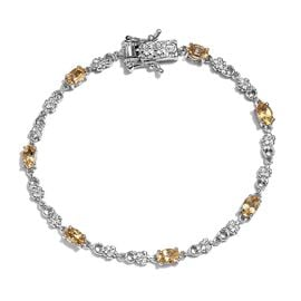 Citrine Bracelet (Size 7.5) in Platinum Plated 3.00 Ct.