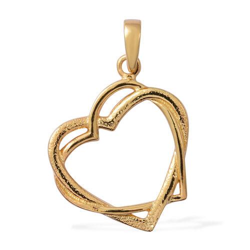 Designer Inspired- Yellow Gold Overlay Sterling Silver Heart Pendant