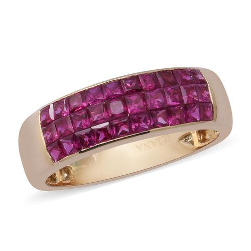 ILIANA 18K Yellow Gold AAAA Burmese Ruby Ring 1.52 Ct.